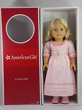 American Girl CAROLINE DOLL with Book Blonde Blue Eyes HISTORICAL Box NEW