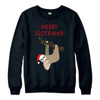 Sloth Christmas Jumper, Merry Slothmas Xmas Gift Festive Adult & Kids Jumper Top