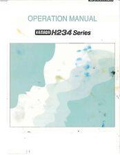 Hamada H234 series Operaring Manual (053)