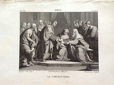 LA CIRCUNCISIÓN Grabado original XIX siglo CHOQUES RELIGIOSOS