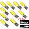 10pcs T10 6W W5W LED Car Interior Light COB Bulb Wedge Parking Dome Light White