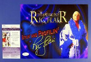 RIC FLAIR SIGNED 8x10 PHOTO ~ WWF WWE WRESTLING ~ JSA Q22552