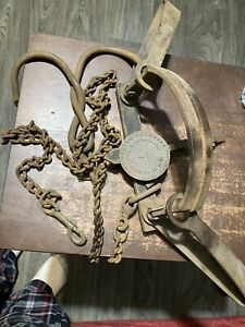 Antique #4 1/2 Newhouse Wolf Traps
