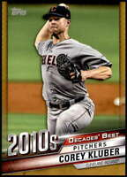 Corey Kluber 2020 Topps Decade's Best Series 2 5x7 Gold #DB-99 /10 Indians