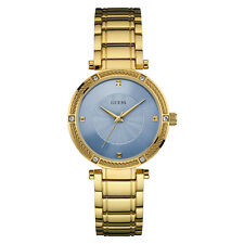 NEW GUESS WATCH Women * Gold Case / Band * Blue Dial * Crystal Accents * U0695L2