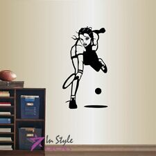 Vinyl Decal Hot Sexy Tennis Player Girl Sports Tennis Game Art Wall Sticker 1572