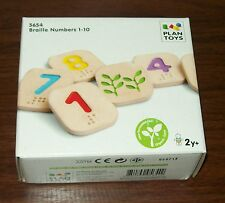 Plan Toys Braille 1 - 10 Numbers. Brand New in Box
