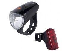 Fahrrad USB Akku Beleuchtungsset Scheinwerfer Rücklicht AXA Greenline 15 Lux LED