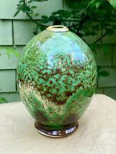 New ListingVintage Edgecomb Pottery Vase Green Bulbous