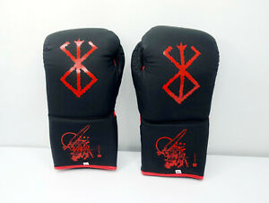 Berserk Anime Boxing Gloves for Bagwork Sparring Brand of Sacrifice Lace Up 14oz