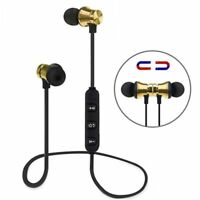 Magnetic Wireless Bluetooth Earbuds w/ Mic Bass Stereo Sports In-Ear Earphone