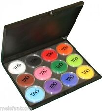TAG Body Art 12 x 32g Regular Palette & Case, Face and Body Paint Make up, Party