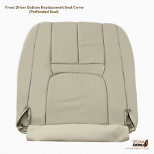 1999 Cadillac Escalde 2WD Driver Bottom Perforated Leather Seat Cover Light Tan