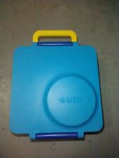 New listing Omiebox Omie Blue yellow Lunchbox Bento Box Leakproof Thermos Insulated As Is