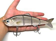 "8"" Multi Jointed Muskie Pike Fishing Bait Lure Swimbait Bass Life Like Striper"