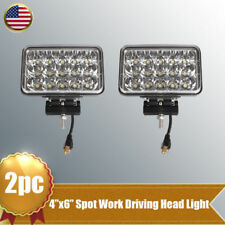 "2X 4""x6"" 45W LED Work Light High Low Sealed Beam Headlight Offroad Truck Driving"