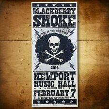 Signed Blackberry Smoke -TOUR POSTER Columbus OH 2/7/14 Silkscreened Autographed
