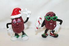 1988 California Raisins Christmas PVC Figures Vintage