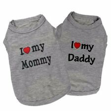 Dog Shirt Small Dog Clothes I Love My Mommy Daddy for Yorkie Chinhuahua Bulldog
