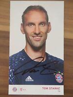 Handsignierte AK Autogrammkarte *TOM STARKE* FC Bayern München 16/17 2016/2017
