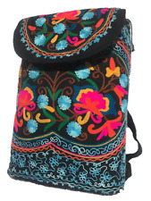 INDIE BOHO HIPPY EMBROIDERED BACKPACK BAG HIPPIE SHOULDER FESTIVAL RUCKSACK