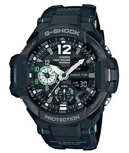 Casio G-Shock * G-Aviation GravityMaster GA1100-1A3 Black & Green COD PayPal