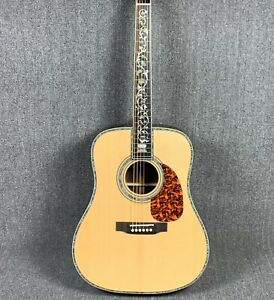 D45 Acoustic Electric Guitar Abalone Rosewood Back&Side Fishman 101 Spruce Top