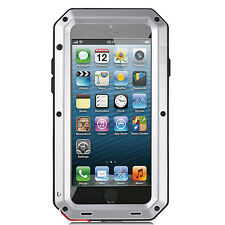 New Original Shockproof Metal Phone Case Cover +Gorilla Glass for iPhone Samsung