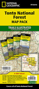 Tonto National Forest Trail Map Pack National Geographic Waterproof