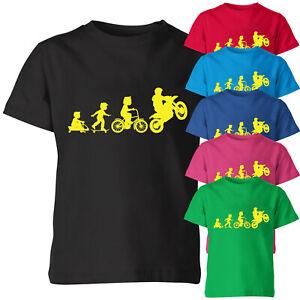Motor Evaluation Kids T Shirt Funny Birthday Gift Bikers Motorbike Tee Top