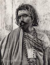 1928 Original INDIA Sarnath Sadhu Ascetic Man Religious Photo Art By HURLIMANN