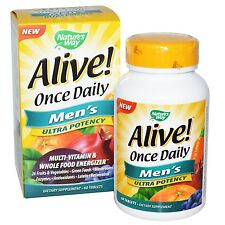 Nature's Way, Alive! Once Daily, Men's Multi-Vitamin, x 60 Tablets .