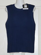 NWT Womens size 10P blue knit sleeveless top made by DANNI MINNOGUE - Target