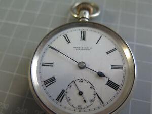 Edwardian silver open face pocket watch, Oldfields Ltd Liverpool, London 1908.