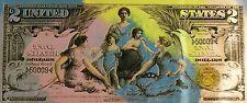 Steve Kaufman SAK - 1896 $2 Two Dollar Bill - Original Embellished Screenprint