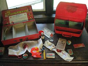 "2 Little Play Nurse Sets Kits Transogram Pretend Play Set ""Selling Two"" Vintage"