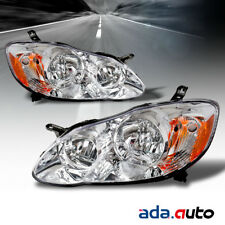 2003 2004 2005 2006 2007 2008 Toyota Corolla Factory Style Chrome Headlights Set