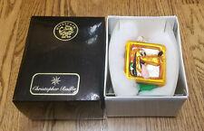 Christopher Radko Glass Ornament Goofy & Pluto Square Block Disney Perfect