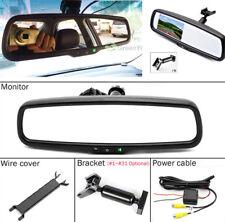 "4.3"" LCD TFT Vehicle Reversing Backup Rear View Mirror Monitor&Bracket DC12-24V"