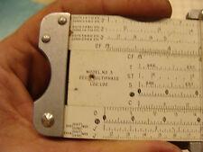 vintage Slide Rule: PICKETT No 3 deci multiphase log log in case, 1947,