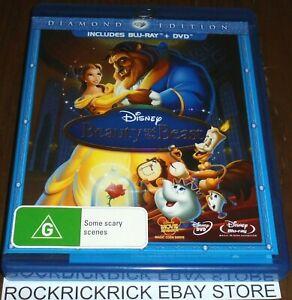BEAUTY AND THE BEAST DIAMOND EDITION BLU-RAY + DVD (3 DISC SET) REGION A,B,C
