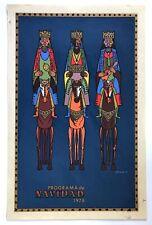 Vera Cortes Cartel Poster Serigraph Christmas Reyes Magos Navidad 78 Puerto Rico