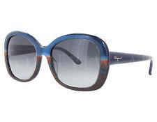 NEW Salvatore Ferragamo SF678S 422 Blue Red / Grey Gradient Sunglasses