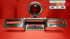 (L21) CAFE RACER MOTORCYCLE DOT CHROME REAR TAIL LIGHT & NUMBER PLATE BRACKET