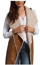 Sanctuary Clothing Women's Size Large Brown Cognac Faux Sherpa Vest NWOT