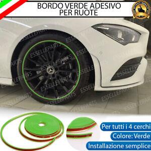 CONTORNO VERDE BORDO CERCHI IN LEGA ADESIVO MINI PACEMAN R61 CLUBMAN R55