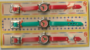 3x original DDR Kinder Uhr Spielzeug in OVP- VEB Ostseeschmuck