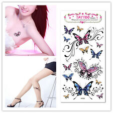 Sexy / BadLadies 3D Flash Multi Butterfly Tattoo Removable Waterproof Body Tatoo