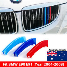 M Tech Kidney Grille Grill 3 Color Cover Clip for BMW 3 Series E90 E91 2004-2008