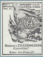 1st CREATION New York COMIC CON 1971 Art Convention FLYER Kenneth Smith fandom